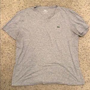 Mens lacoste v-neck t-shirt